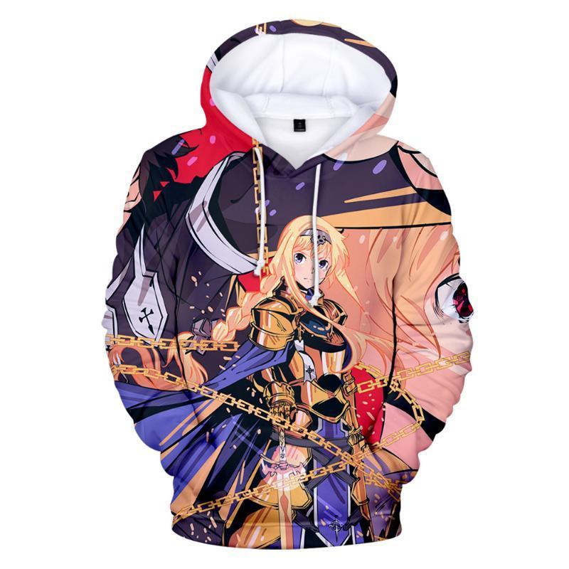 3D pulôver do capuz Homens Mulheres Fashion Design Hoodies 3D Sword Art Online Alicization Anime camisola Harajuku Hoodie Men