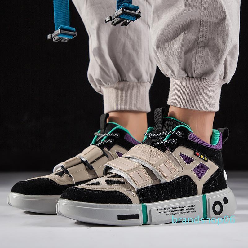 Otoño de alta Top Star zapatos de los hombres de lujo Chunky zapatillas Off Diseñador Tenis Masculino Calzado casual Hip Hop blanca Zapatos Hombre qwa12