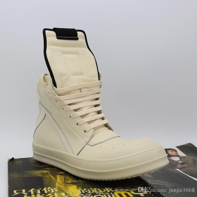 Fábrica de saída triângulo invertido tendência hip-hop de alta-top sapatos de couro de vaca homens e mulheres amantes da moda incenso TPU botas de fundo