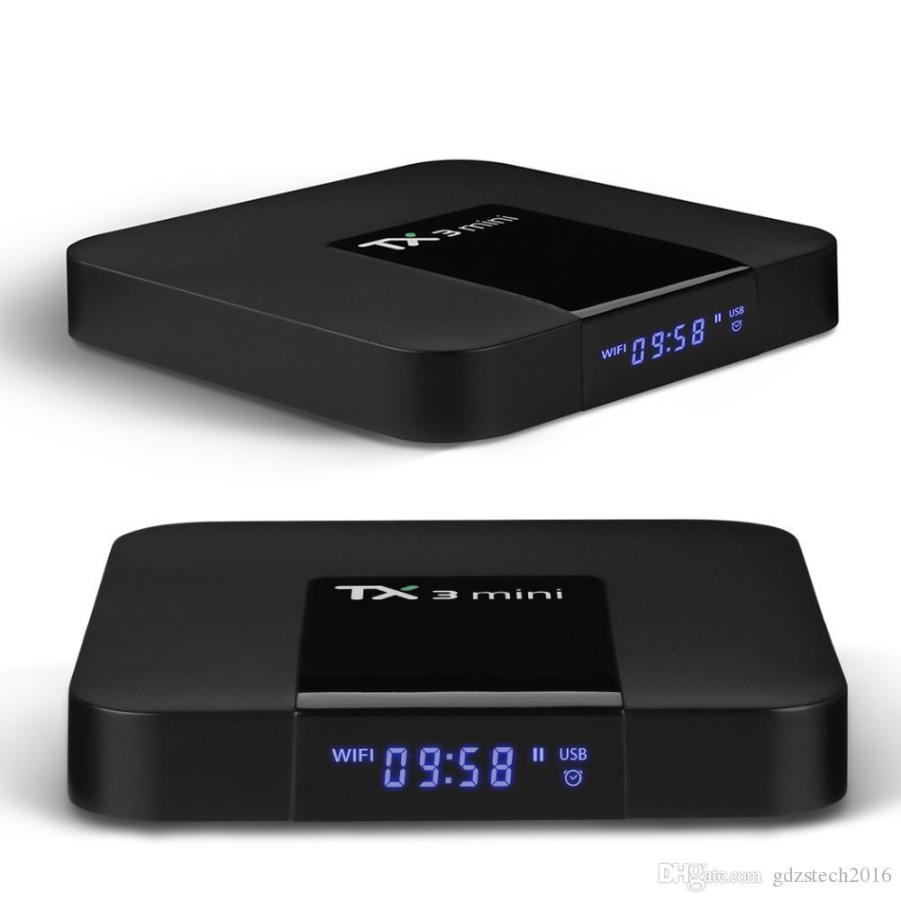 뜨거운 판매 TX3 미니 안드로이드 7.1 TV 박스 Amlogic S905W 쿼드 코어 1GB / 8GB 2GB / 16GB 내장 2.4GWIFI 스마트 셋톱 박스 CS