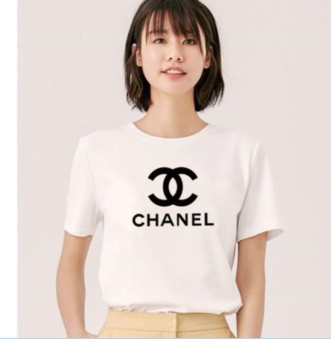 2020 nuovo design estate marche della maglietta di stampa t-shirt bianca nera Donna Top maglietta manica corta in cotone Tshirt Womens YLS Tops Tees