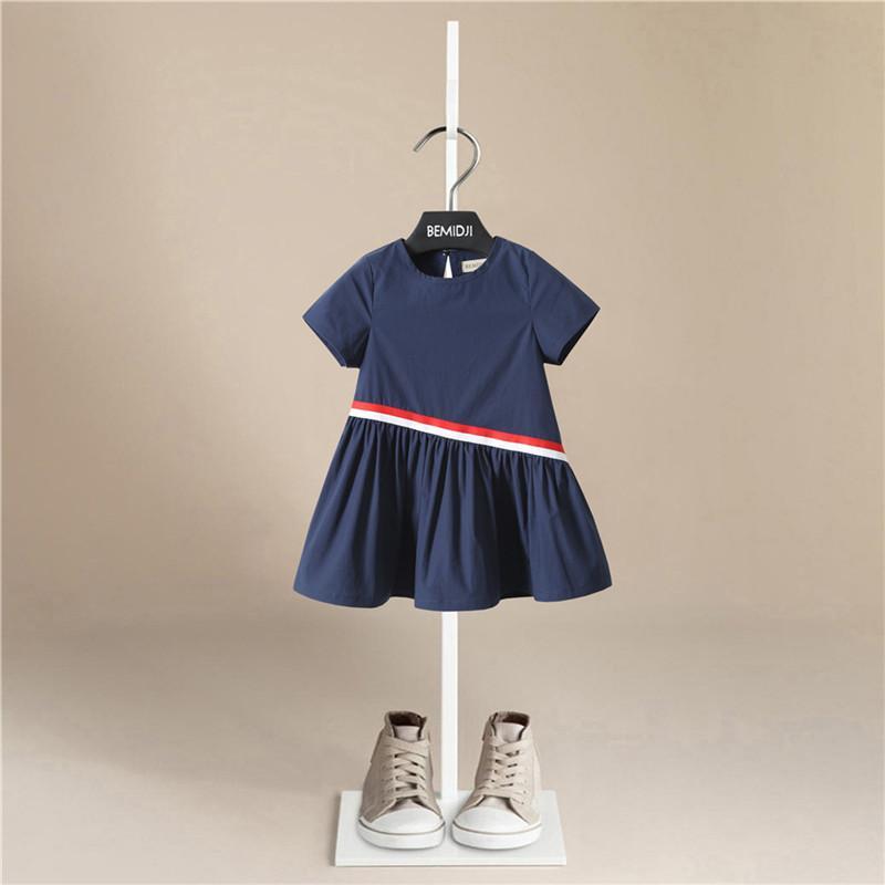 Летнее платье с коротким рукавом для девочек Party Vestido Baby Princess свободные вечерние платья принцессы горячие продажи хлопчатобумажное платье для девочек