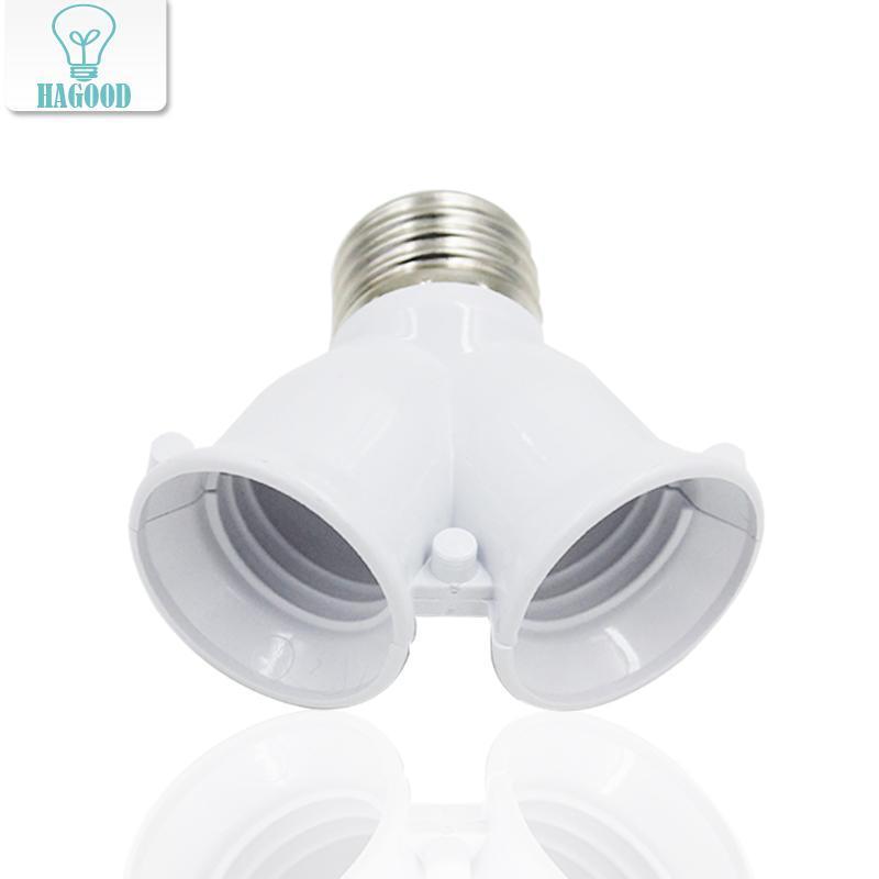 E27 2 divisor conversor adaptador soquete Y Forma lâmpada luz Detentor do divisor conversor adaptador 2 cabeças dos parafusos base da lâmpada