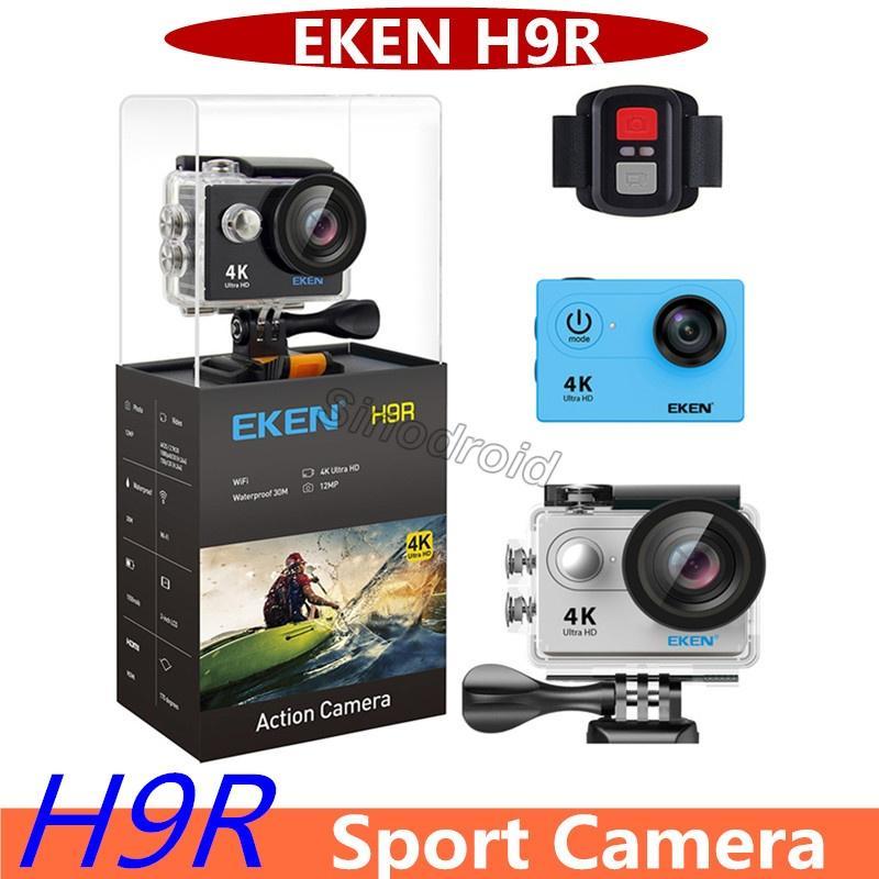 Original EKEN H9R com Controle Remoto 4 K Ultra HD Wi-fi HDMI 1080 P 2-polegadas LCD 170 Lente Grande Angular EIS à prova d 'água esporte câmera de vídeo