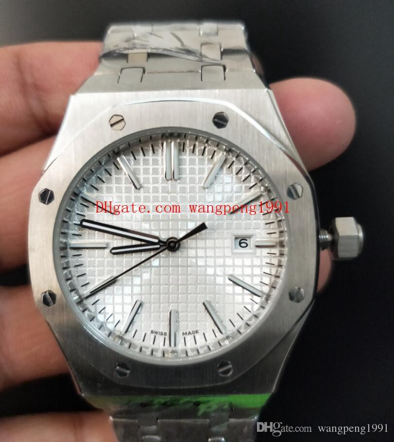 10 couleur Top vente Montre Haute Qualité 41mm Cadran Noir 15400 15400ST15400SR Asie Transparent Mécanique Automatique Hommes Hommes Montres