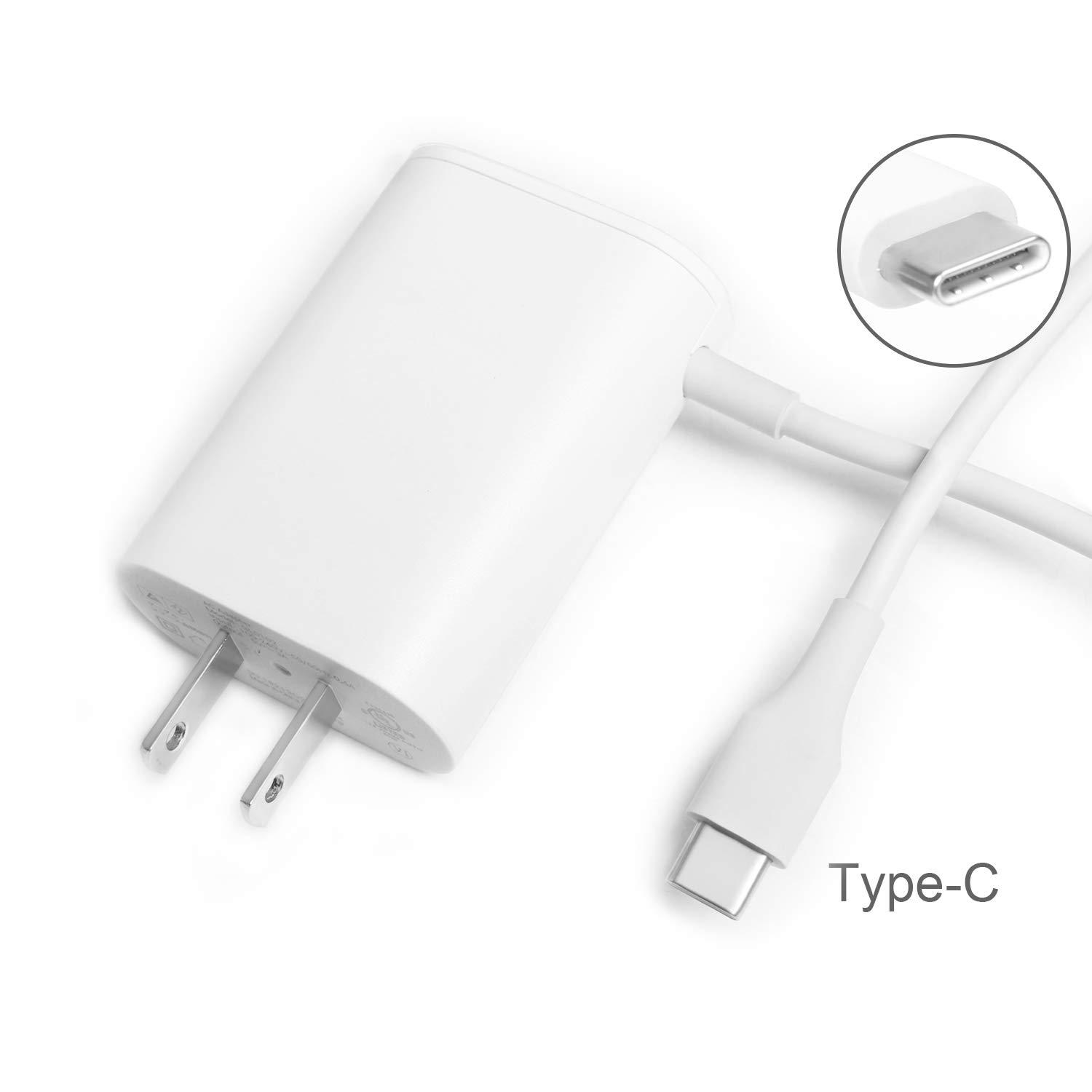szhyon 5V 3A USB-c Charger Power Cable GL0102 GL0101 for Google Pixel 4 3 2 XL JBL Pulse 4 FLIP 5 Charge 4 Speaker Google WiFi