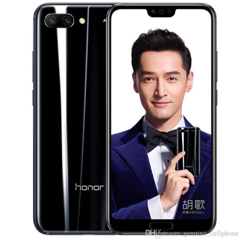 Original Huawei Honor 10 4G LTE Handy 8 GB RAM 128 GB ROM Kirin 970 Octa-Core 5,84 Zoll Full Screen 24MP Fingerabdruck-ID-Gesichts-Handy