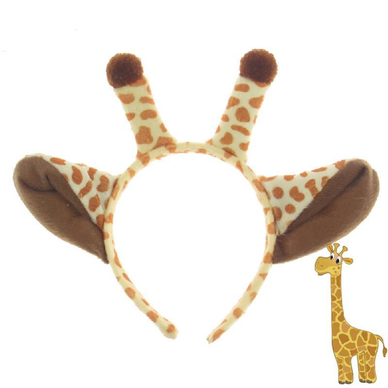 Peluche Girafe Cheveux Bâtons Halloween Oreilles Bandeau Enfants Costume D'animal Fantaisie Cosplay Dress Up Accessoires De Cheveux Articles De Fête