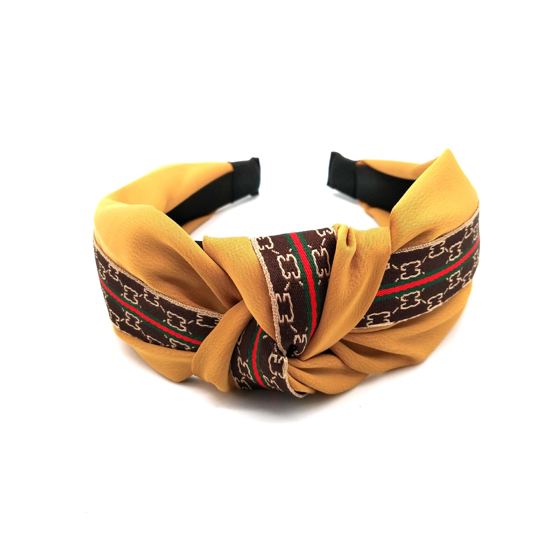 Headband Knot Hair Band Wide-brimmed Pure Color Ribbon High-grade Fabric Korean Broadside Fabric Kink Hairpin Accessories Factory Direct