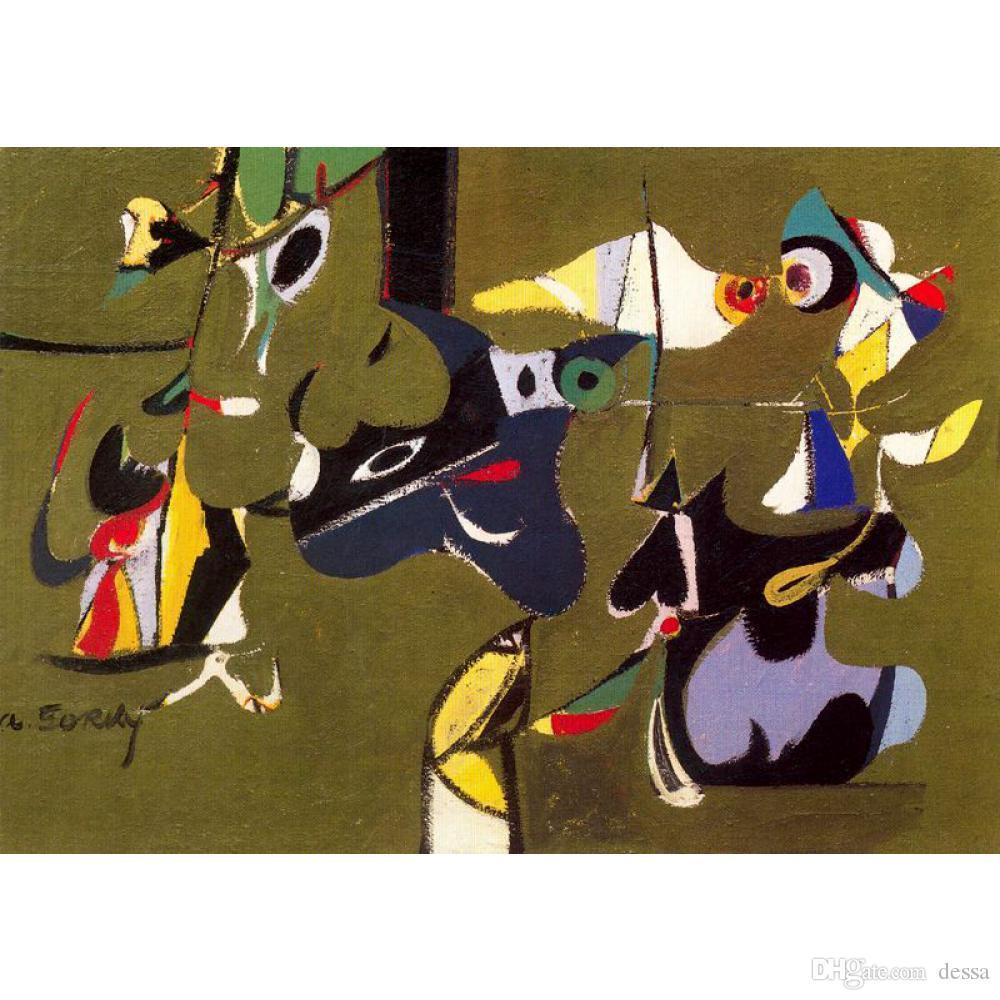 Абстракционизм Jardin де Сочи Arshile Горьких картины масло холст искусство для декора гостиной ручной росписи