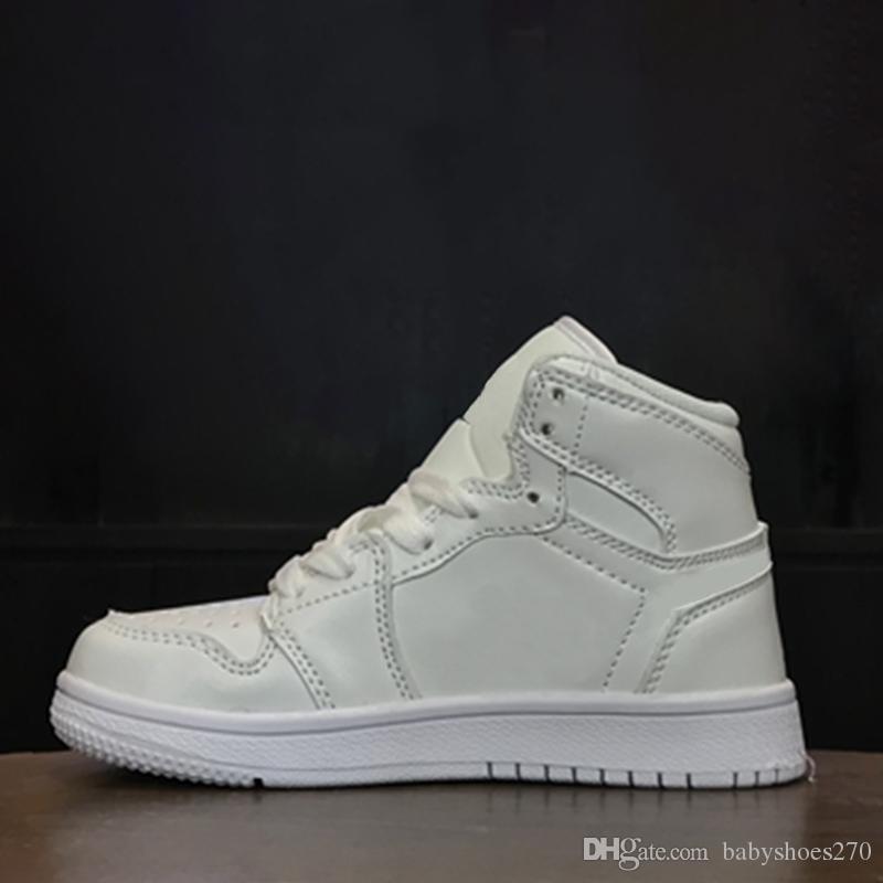 Compre Nike Air Jordan 1 Caja Para Niños Diseñador De Moda De Marca Original Zapatos Zapatillas J1 1s Jd 1 Zapatos De Baloncesto Altos Blanco Negro