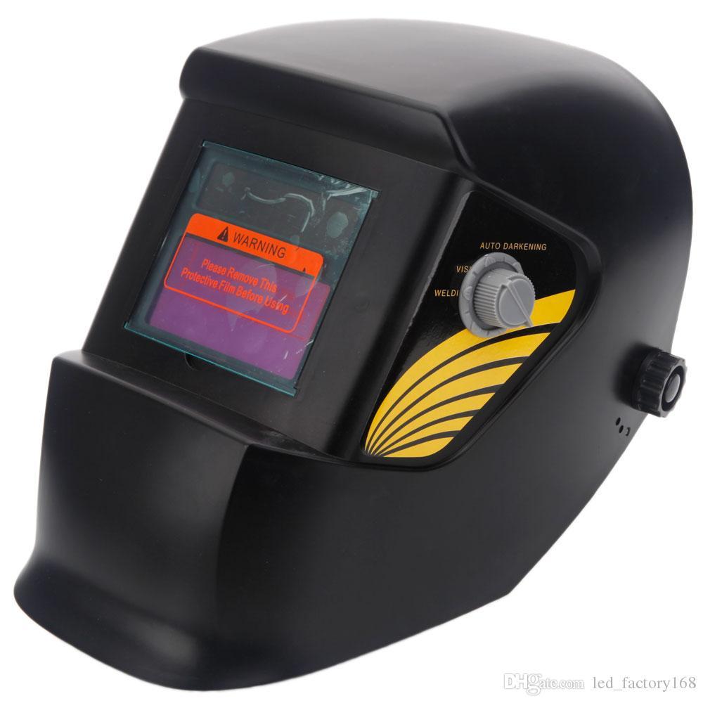 용접 헬멧 블랙 용접기에 대한 조정 그늘 범위와 2019 핫 판매 태양 전원 용접 헬멧 자동 어둡게 후드 디자인 마스크