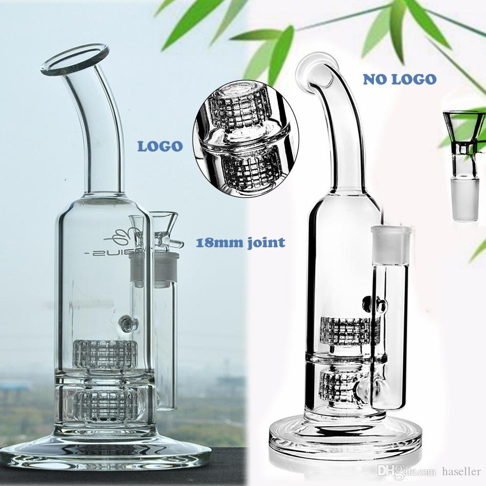 11.8Inchs Mobius Bong Thick Glass Water Bongs Water pipe Heady Dab Oil Rigs Double Stereo Matrix perc With 18mm Bowl Hookahs