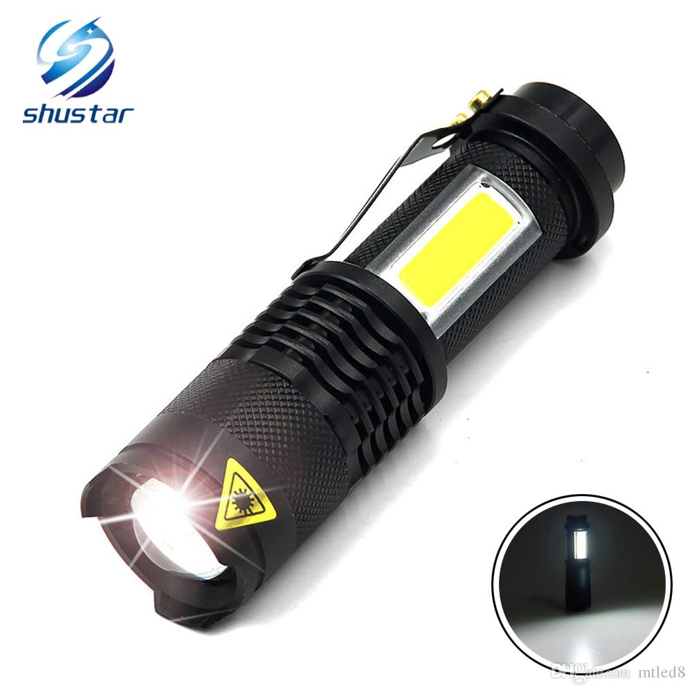 Mini Black Waterproof LED Tactical Flashlight outdoor camping Torch penlight