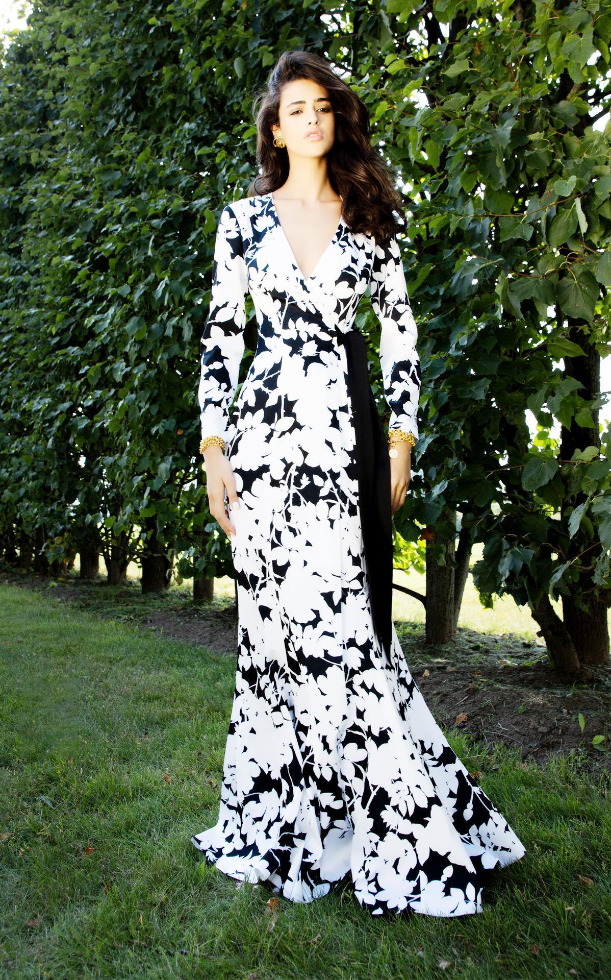 2020 européens et américains de femmes New robes imprimées Hot vente robe à manches longues robe de soirée