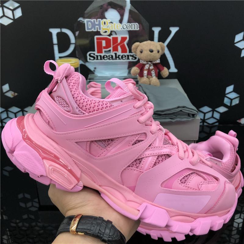 2020 최고 품질의 트리플러 캐주얼 신발 파리 신발 트리플 s 명확한 luxurys 디자이너 조합 크리스탈 하단 남자 패션 아빠 신발