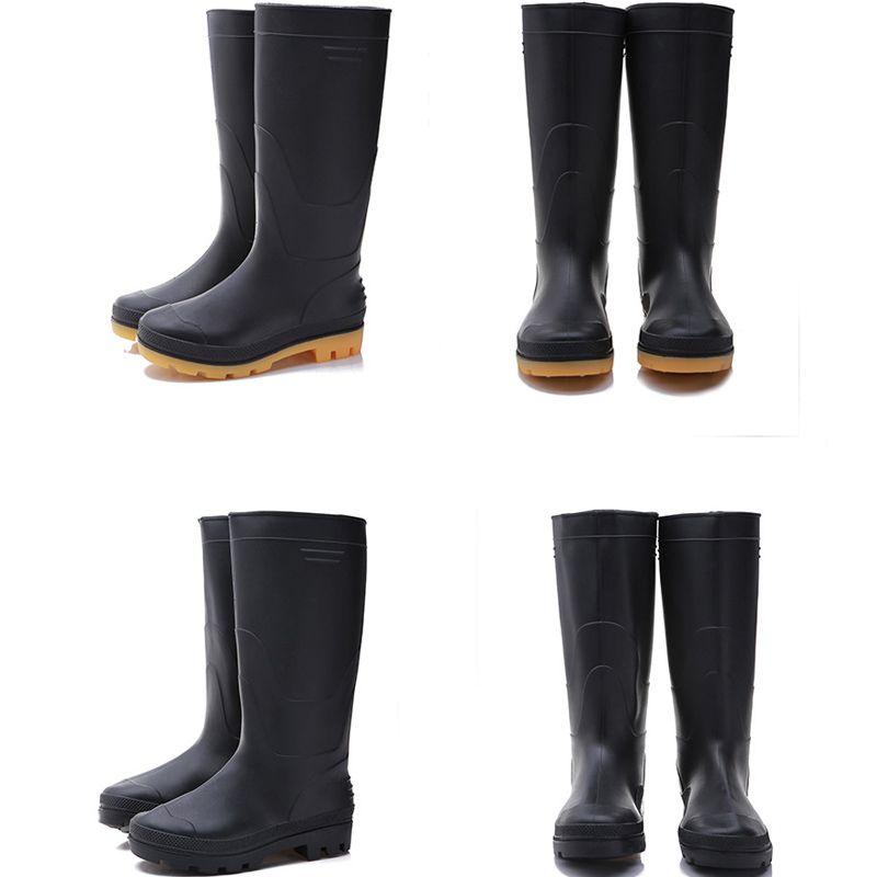 Женщины мужчины Rainboots мода колено высокий высокий дождь сапоги Англия стиль водонепроницаемый Welly сапоги резиновые для воды обувь дождь обувь Size39-45