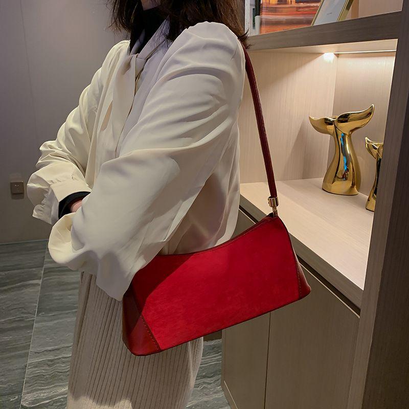 2020 novos bolsa de ombro japonês e coreano senhoras retro das mulheres saco de embreagem simples moda senhoras axila ombro