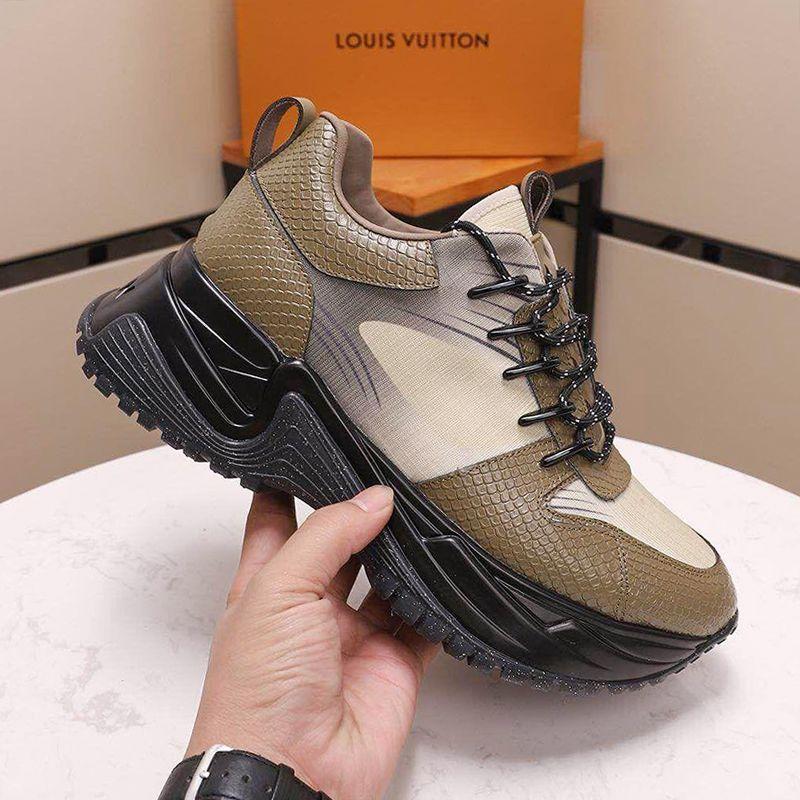 Nueva llegada Run Away Zapatos Pulso zapatilla de deporte de los hombres con la caja Footwears Origen alta calidad respirable Estilo de lujo del zapato con cordones casuales zapatos de los hombres