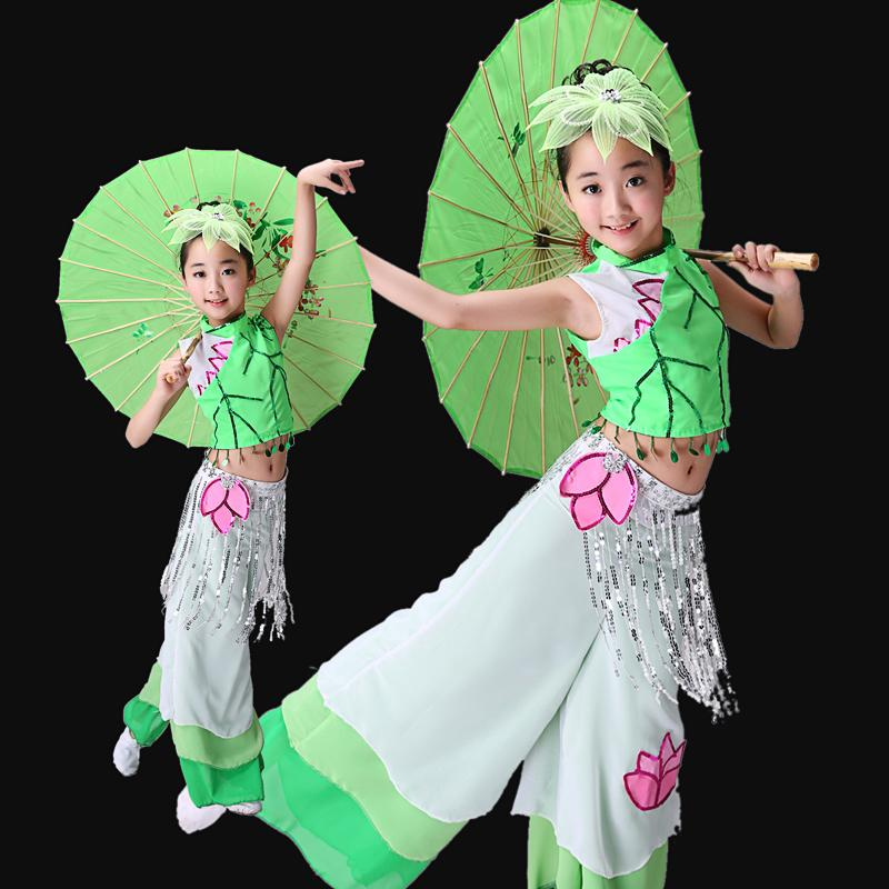 ÉTABLISER LES COSTUMES DE DANCE DE VÊTEMENTS DE VÊTEMENTS CHINOIS VÊTEMENTS DE VÊTEMENTS CHINOISSIQUES FAN YANGKO FILLES GIRLS Uplrella National