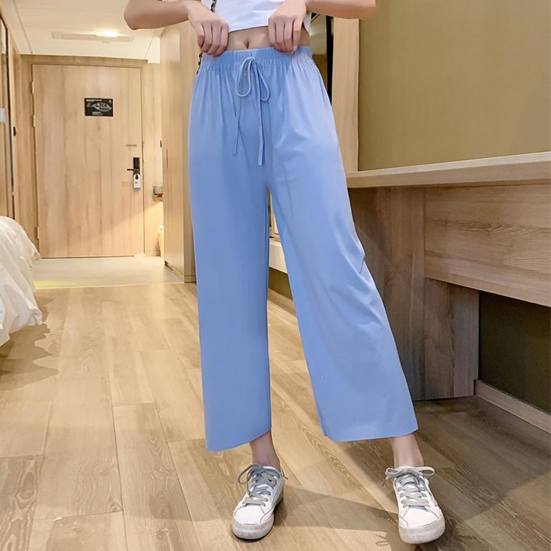 2020 printemps et en été New Wide Leg Pants female Pantalons simple desserrées Neuf Mode Points 2020