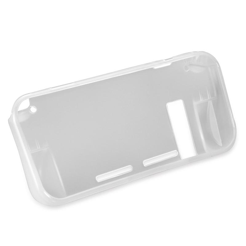 TPU Anti-Scratch Back Case Cover Premium Crystal Clear Shock with Tempered Glass Screen Protector for Nintendo Switch White