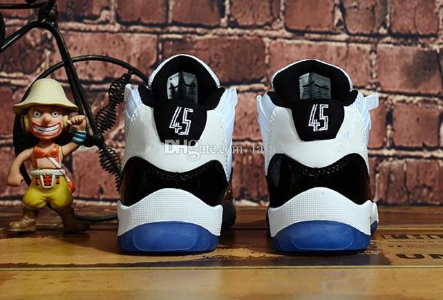 Çocuk Çocuk Jumpman 11 11s Beyaz Ve Pembe Concord 45 Legend Mavi Basketbol Ayakkabı Space Jam Salonu Red Boys Kız Spor Spor ayakkabılar