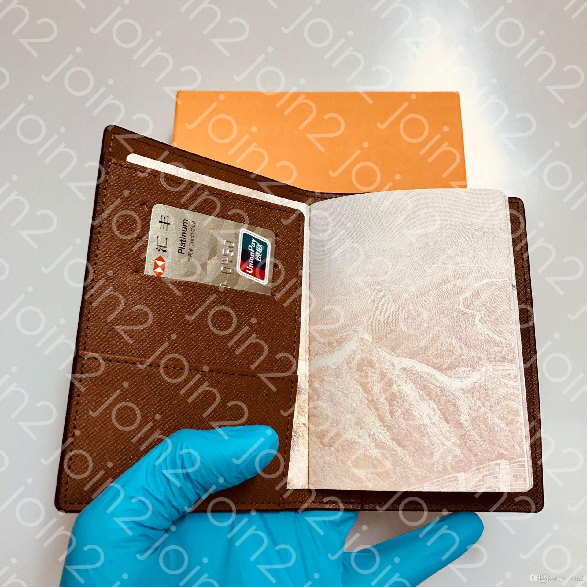 COUVERTURE DE PASSEPORT Womens Fashion Passeport Protection Case Trendy Titulaire de la carte de crédit Portefeuille Hommes Brun Iconic Toile COUVERTURE PASSEPORT