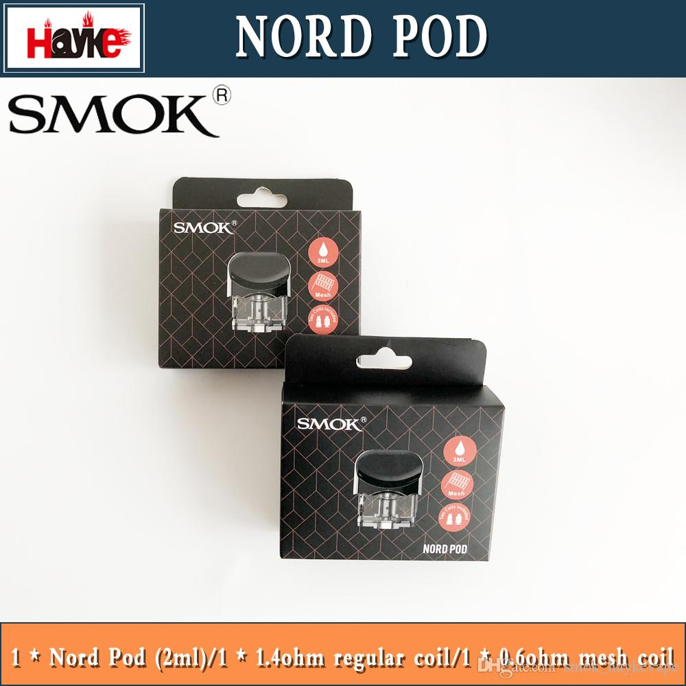 2019 SMOK Nord Replacement Pod 3ml With 0 6ohm Mesh Coil 1 4ohm Regular  Coil For Nord Starter Kit E Cig Spare Part Vs Vord Pod From Smok_haykevape,