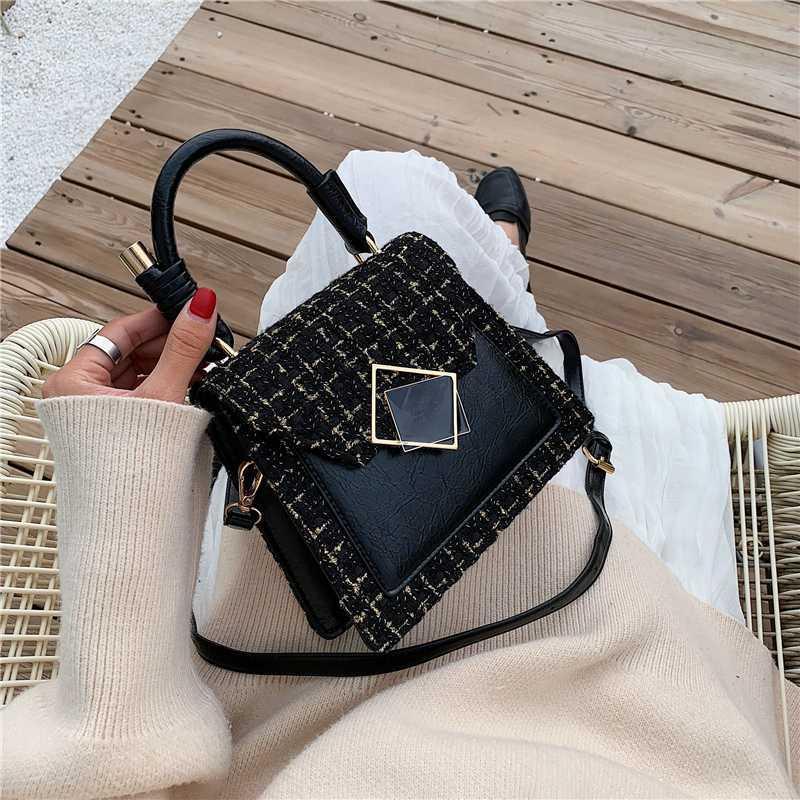 Мода ретро Женщины Мини сумка 2019 Новый Плед Сумка Lady Маленькие сумки на ремне сумки женщины и Кошельки
