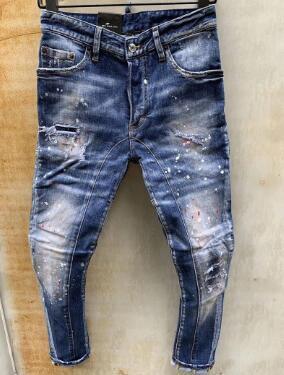 New Style Brand D2 Men jeans Denim Jean Embroidery Tiger Pants Holes D2 Jeans Zipper Men Pants skinnydsquared2 jeans men 000000d3b5#