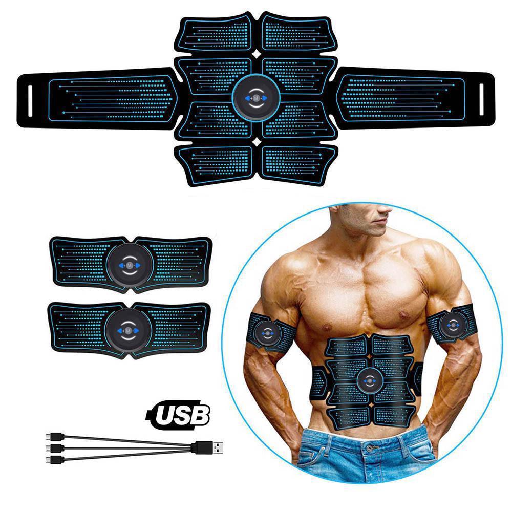 Muscolo addominale stimolatore SME Abs Elettrostimolazione Home Gym Trainer Muscoli toner Esercizio Attrezzature Fitness USB Chargable