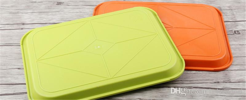 brown red green yellow color plastic plate fruit tray restaurant snake bar tea cake bread food dish ABS anti slip plastic tray