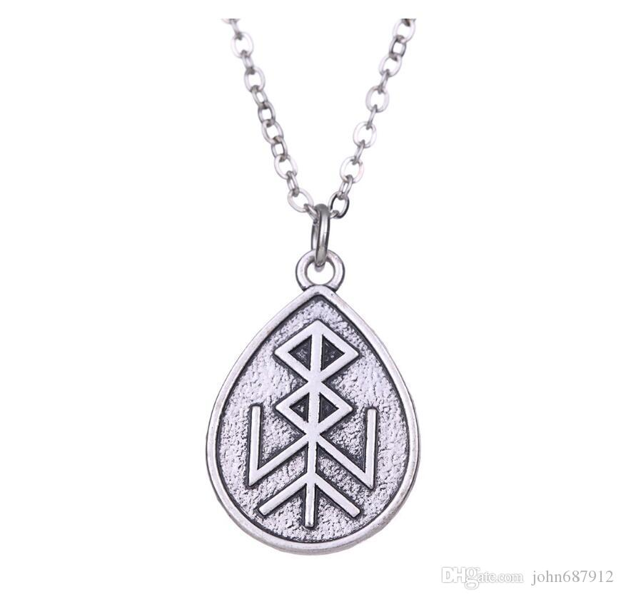 collier symbole homme