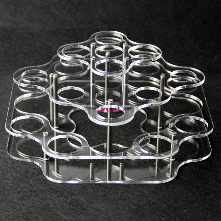 Acrylic display clear stand shelf holder vape rack show case for 21pcs 30ml 60ml plastic glass bottles e liquid eJuice bottle