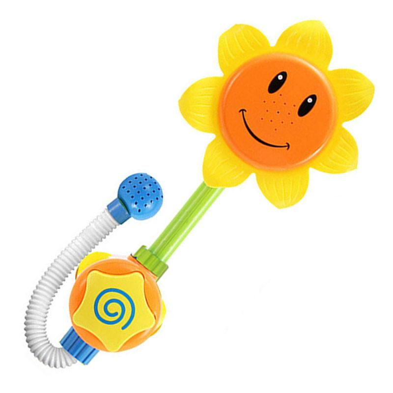 1 مجموعة طفل مضحك لعبة المياه لعبة حمام الاستحمام حوض عباد الشمس دش صنبور رذاذ الماء لعب للأطفال C19021301