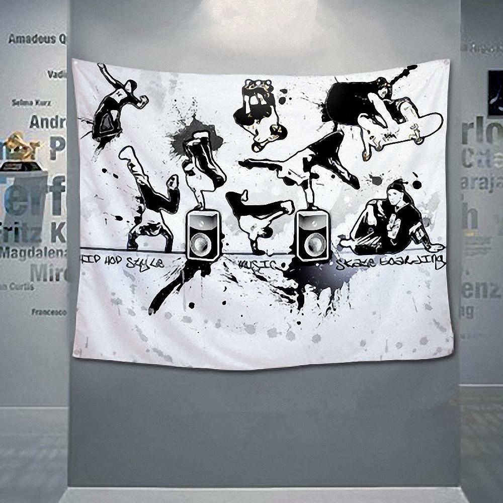 Hip hop\ Jazz\Reggae\Rock\Heavy metal Music Poster Retro Flag Banner Tapestry Cloth Art Wall Sticker Bar Bedroom Home Decor
