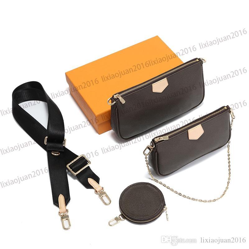 좋아하는 멀티 파리 패션 액세서리 핸드백 지갑 정품 가죽 꽃 어깨 크로스 바디 가방 지갑 3 개 지갑