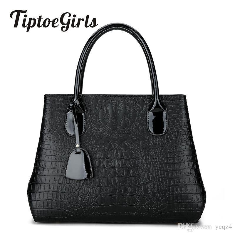 Winter New Personalized Crocodile Pattern Handbag European And American Fashion Shoulder Messenger Messenger Bag