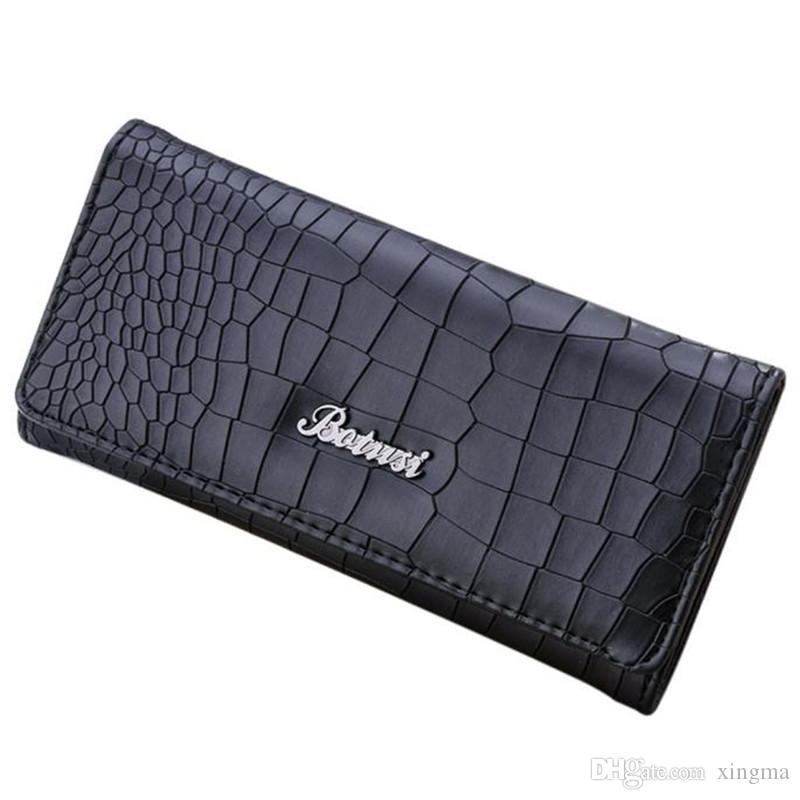 Wholesale-R1 neue Marke und Mode Brieftasche Frauen Geldbörse Steinmuster Leder Geldbörse lange Brieftasche Inhaber Handtasche