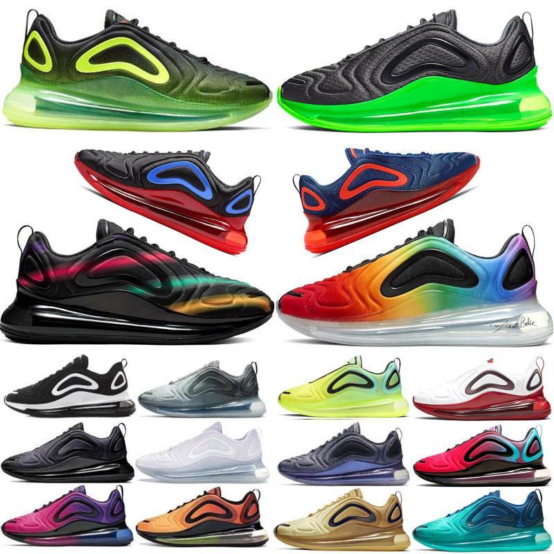 2020 الجديد 720 وسادة أحذية رياضية كهربائية الشبح الأخضر رجال الرياضة الاحذية رياضة جامعة الأحمر فلاش 72c منصة النساء المدرب الحجم 36-45