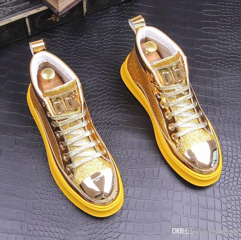 casual homens sapatos da moda sapatos Mulheres sapatilha de couro de alta top Designer Flats sapatos sapatilhas do desenhista Homens partido