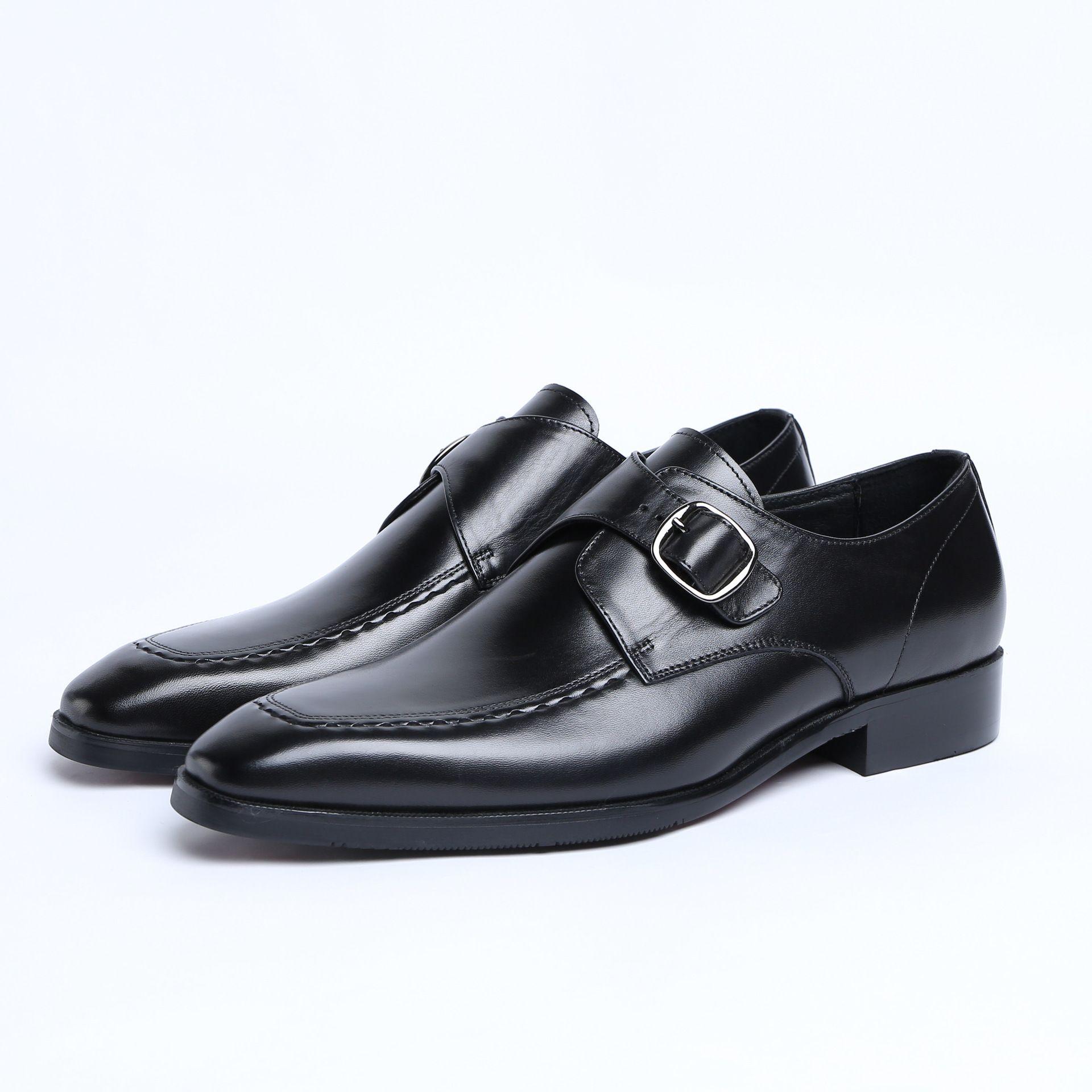 Мужская кожаная обувь бизнес формальный носить пряжки мужской обуви свадебные туфли удобные кожаные Хомбре Deporte Хомбре