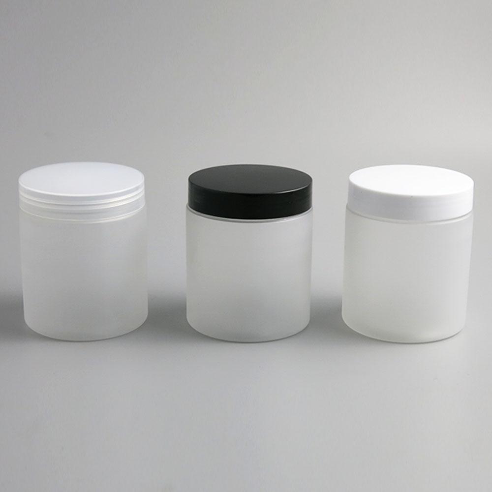 24 x 250g Leer Frost Kosmetische Sahne Container Cremedosen 250er 250ml für Kosmetik Verpackung Kunststoff-Flaschen mit Kunststoffkappe