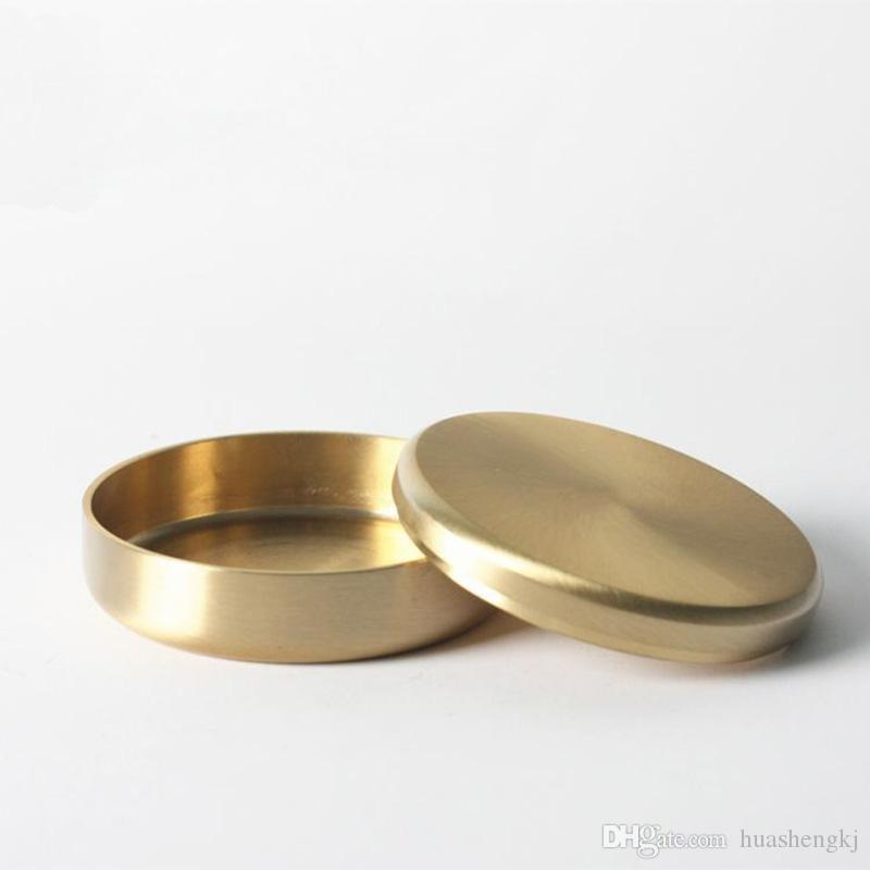 Newest Brass Gold Storage Box Case Portable Jar Innovative Design For Herb Pill Powder Smoking Pipe Tool High Quality Hot Cake