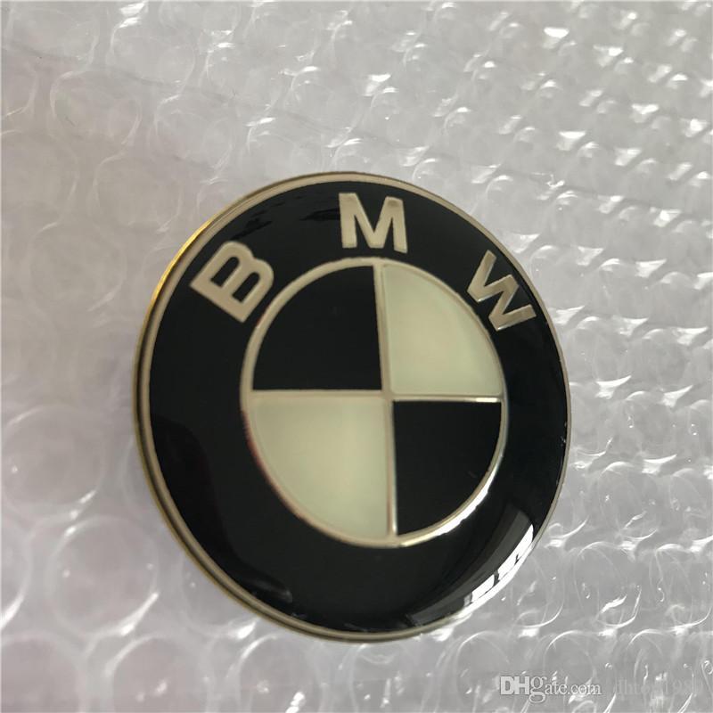 ✔️ BLACK ORIGINAL BMW STEERING WHEEL 45MM LOGO 3M Letters Emblem Badge Stick