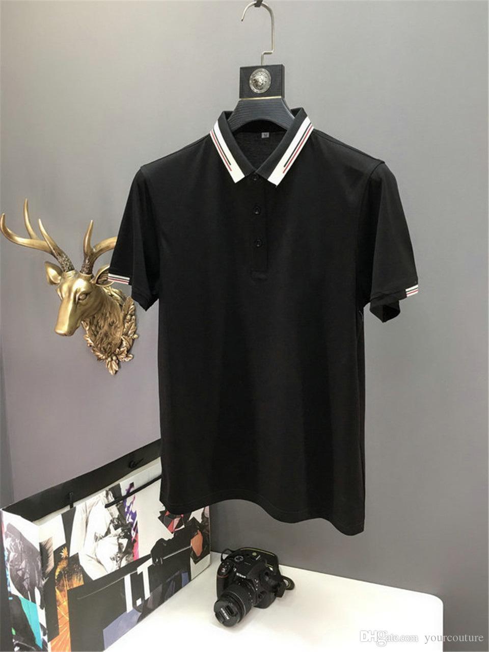 Mens Polo Designer Polo hommes manches courtes Chemises London Fashion Broderie Polo T-shirt des hommes en vrac