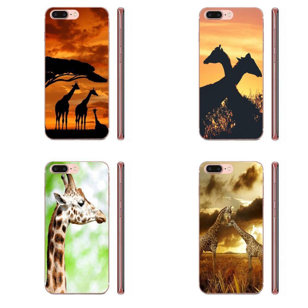 Custom For LG K50 Q6 Q7 Q8 Q60 X Power 2 3 Nexus 5 5X V10 V20 V30 V40 Q Stylus Soft TPU Printing Lovely Animal Giraffes