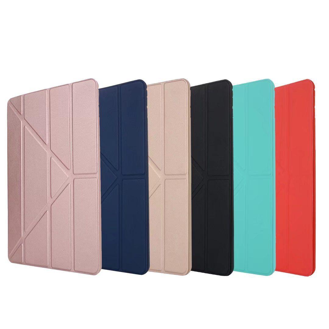 حقيبة لجهاز iPad Air Pro الجديد مقاس 10.5 بوصة من السيليكون الناعم + غطاء مصنوع من جلد PU مزين بخاصية السكون والنوم لأجهزة Apple iPad Pro10.5
