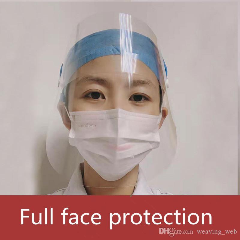 más barata careta de plástico mascarilla reutilizable cara Escudo de seguridad completa protección transparente máscara protectora Protección contra salpicaduras